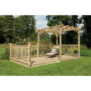 Image for Forest Ultima Pergola and Patio Decking Kit - 2.4 x 4.9m