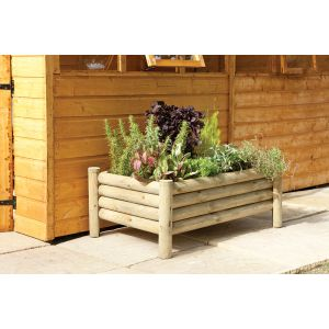 Image for Forest Raised Log Planter