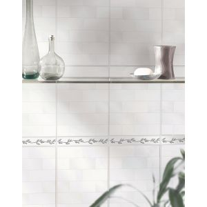 Image for Laura Ashley White Collection Highgate White 248mm x 498mm Wall Tile 8 Per Pack - LA51881
