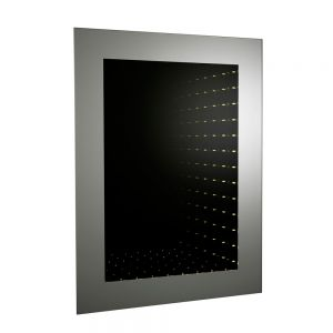 Image for Hudson Reed Lucio Infinity Bathroom Mirror 600mm H x 800mm W Stainless Steel
