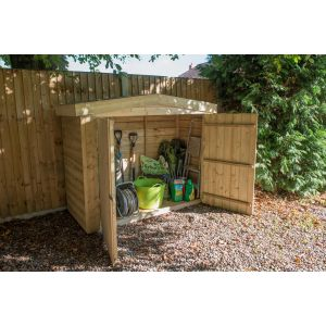 Image for Forest Pressure Treated Apex Large Outdoor Store - 6.5ft x 4.11ft