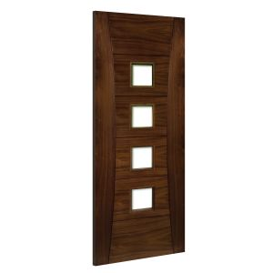 Image for Deanta Pamplona Glazed Interior Walnut Door