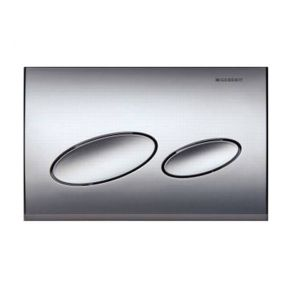 Image for Geberit Kappa20 Flush Plate - Plastic Matt Chrome - 115.228.46.1  115.228.46.1