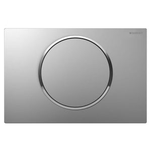 Image for Geberit Sigma10 Single Flush WC Wall Plate - Matt/Gloss/Matt Chrome - 115.758.KN.5  115.758.KN.5