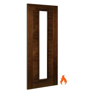 Image for Deanta Seville Unglazed Interior Walnut Fire Door