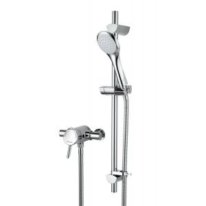 Bristan Acute Thermostatic Surface Mounted Shower valve with Adjustable Riser Chrome
