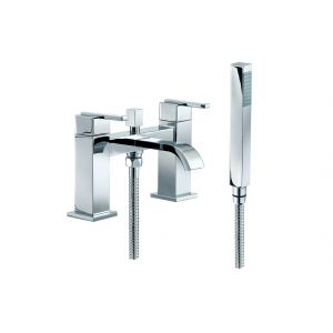 Image for Amber 2 Hole Bath Shower Mixer Tap Chrome