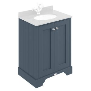 Image for Bayswater Stiffkey Blue 600mm 2 Door Basin Cabinet