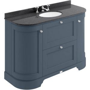 Image for Bayswater Stiffkey Blue 1200mm 2 Drawer/Curved Door