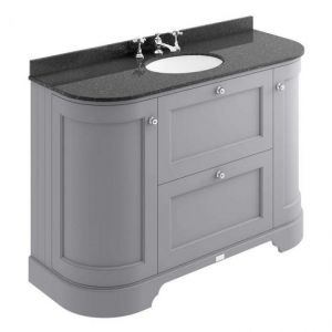 Bayswater Plummett Grey 1200mm 2 Drawer/Curved Door