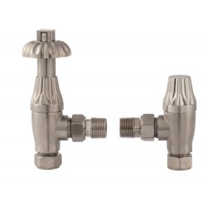 Image for Bayswater Satin Nickel Angled Thermostatic Valve