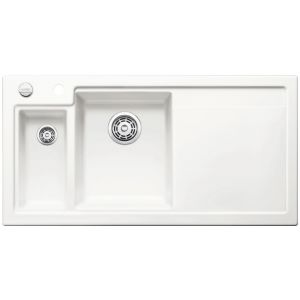 Image for Blanco AXON II 6 S Ceramic Kitchen Sink Crystal White Glossy Bowl Left BL467490