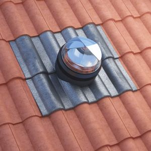 Image for Diamond Dome Sunpipe 230mm Slate Roof Kit Up To 45dg Pitch
