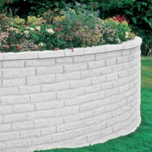 Image for Bradstone Pitched Walling Grey 215x63x90