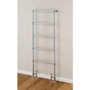 Image for Supplies 4 Heat Cleves Floor Mounted Heated Towel Rail 598mm Wide - Chrome
