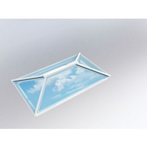 Image for Atlas Contemporary Roof Lantern Window Active Neutral Double Glazed - White