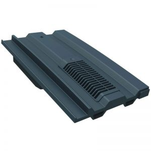 Manthorpe Mini Castellated In-line Roof Tile Vent (5000mm2) Grey