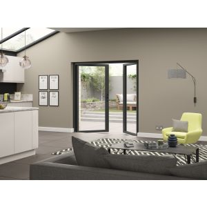 Image for JCI Grey Aluminium Pre Finished External French Door Opening In - 2090mm x 1190mm