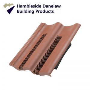 Image for Hambleside Danelaw Double Pantile Flush Fit Tile Vent - Antique Red Pack of 5