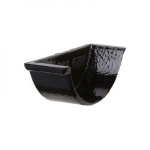 Image for 100mm Black Cast Iron Beaded Gutter Internal Stopend for Sockets