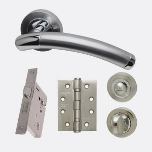 Image for LPD Ironmongery Saturn Privacy Handle Hardware Pack