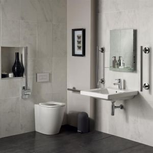 Image for Ideal Standard Freedom Doc M Raised Height Back To Wall Pan Pack Including 60cm Accessible Basin