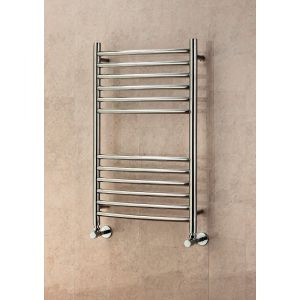 Image for Supplies 4 Heat Lanark Curved Towel Rail 500mm Wide - Polished Stainless Steel