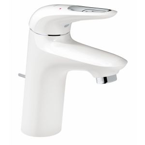 Image for Grohe Eurostyle Single-Lever Basin Mixer Tap With Pop-Up Waste - Small - Moon White