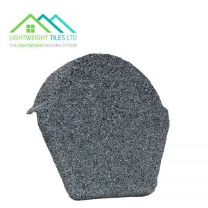 Image for Lightweight Roof Tile Ridge End Cap - Granite Grey