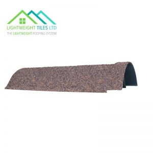 Image for Lightweight Roof Tile 360mm Cover Ridge - Autumn Brown