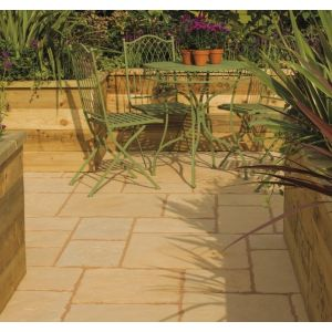 Image for Bradstone Old Town Cotswold Patio Feature Pack Kit 6.4m2