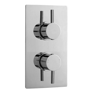Image for Ultra Pioneer Round Concealed Thermostatic Twin Shower Valve - Dual Handle - Chrome