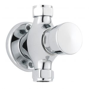 Image for Ultra Self Closing Exposed Shower Valve Non Concussive - Chrome