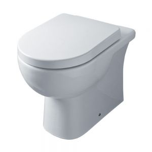 Image for Essential Lily Back-to-Wall Toilet, 550mm Projection, Soft Close Seat