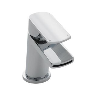 Image for Ultra Mona Mono Basin Mixer Tap Single Handle with Push Button Waste - Chrome