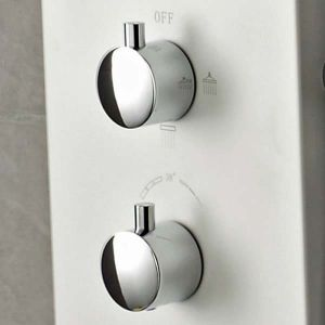 Image for Hudson Reed Glacier Dream Thermostatic Shower Tower Panel 6 Jets - White