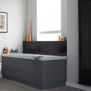 Image for Hudson Reed MDF Bath End Panel 700mm Wide High Gloss Grey