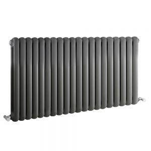 Image for Hudson Reed Salvia Designer Horizontal Radiator 635mm H x 1223mm W Anthracite