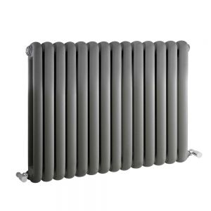 Image for Hudson Reed Salvia Designer Horizontal Radiator 635mm H x 863mm W Anthracite