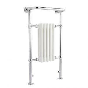 Image for Hudson Reed Small Harrow Heated Towel Rail 965mm H x 540mm W Chrome/White