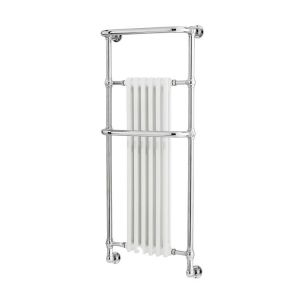Image for Hudson Reed Brampton Radiator Heated Towel Rail 1365mm H x 575mm W White/Chrome