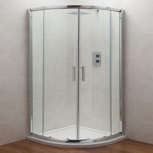 Image for Premier Shower Enclosure Pack 800mm Quadrant Twin Shower and Fixed Head