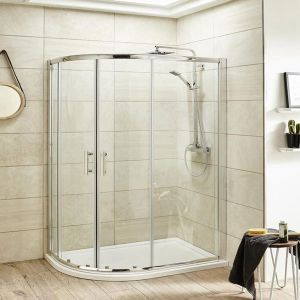 Image for Premier Pacific Offset Quadrant Shower Enclosure 900mm x 760mm with Shower Tray, Left Handed - 6mm Glass