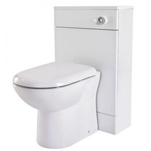 Image for Premier Mayford Back-to-Wall WC Toilet Unit 500mm Wide x 300mm Deep Gloss White