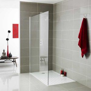 Image for Premier Wet Room Screen 1850mm x 1000mm Wide, 8mm Glass