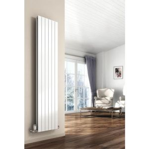Image for Reina Flat Designer Radiator 1800mm H x 366mm W Double Convector, White