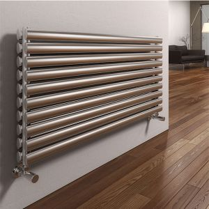 Image for Reina Artena Double Designer Horizontal Radiator 590mm H x 800mm W Stainless