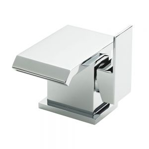 Image for Hudson Reed Minimalist Side Action Mono Basin Mixer Tap Single Handle with Push Button Waste - Chrome