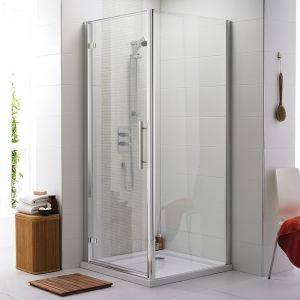 Premier Apex Hinged Shower Enclosure with Shower Tray - 8mm Glass