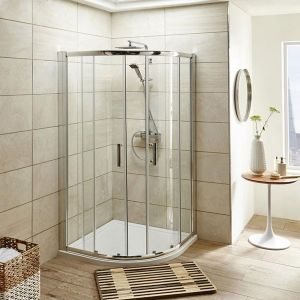 Premier Pacific Quadrant Shower Enclosure with Shower Tray - 6mm Glass